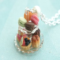 french pastries necklace