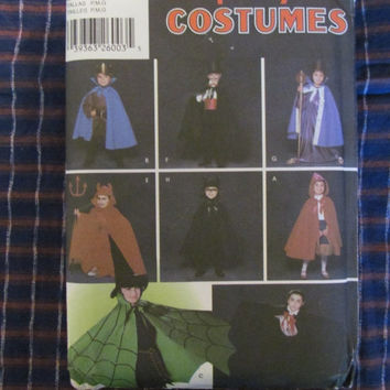 SALE Uncut Simplicity Sewing Pattern, 5927! Small/Medium/Large, Girls/Boys, Capes/Costumes/Halloween, Little Red Riding Hood, Dracula etc.