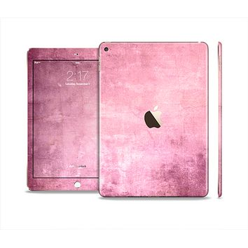 The Pink Grungy Surface Texture Skin Set for the Apple iPad Air 2