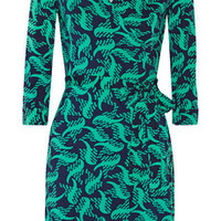 Diane von Furstenberg New Julian Two printed stretch-jersey wrap dress – 53% at THE OUTNET.COM