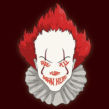 We All Float Down Here Horror Movie Clown Vinyl Sticker