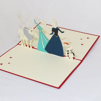 3D Frozen Pop Up Greeting Card GAS_0172