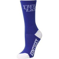Kentucky Wildcats Women's Vertical Stripe Quarter-Length Socks – Royal Blue