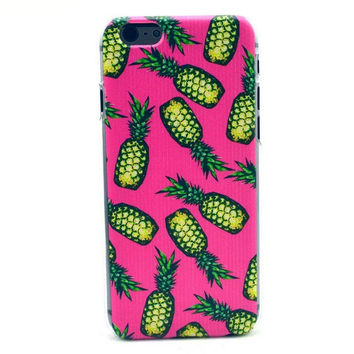 Hot Pink Pineapple Cover For iPhone 6 S