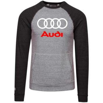 Audi Vintage Fleece Heathered Crew