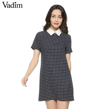 Casual Checkered Dress