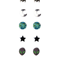 LOVEsick Space Stud Earrings 6 Pair