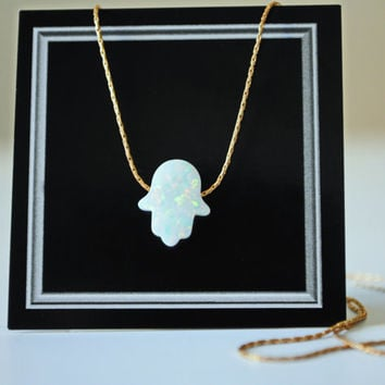 SALE! Hamsa necklace. Opal Hamsa necklace. Fire opal. Lab opal Gold filled. Hamsa Pendant. Evil Eye. Нand of fatima. Graduation. Bat Mitzvah