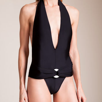 Sinesia Karol: Daisy Halter Swimsuit | Nancy Meyer