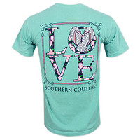 Southern Couture Flip Flop Love T-Shirt - Green