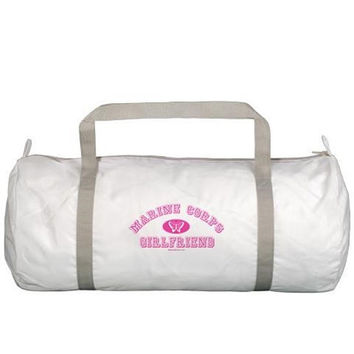 Marine Corps (USMC) Girlfriend Gym Bag with Pink Butterfly