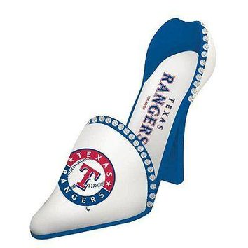 Texas Rangers MLB High Heel Shoe Wine Bottle Holder