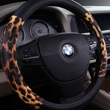 Day-First™ Leopard Cover Steering Wheel Accessories Auto Upholstery Supplies