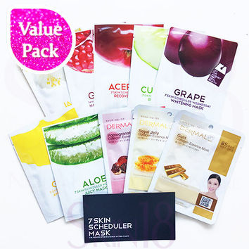 [ Value Pack ]  Lomi Lomi + Dermal Essence Masks x 10pcs