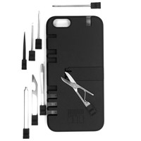 IN1 Multi Tool Case for iPhone 6/6s Plus - Retail Packaging - Black with Black tools