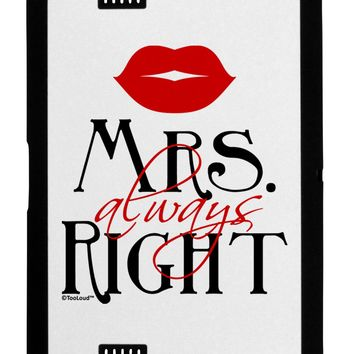 Matching Husband and Wife Designs - Mrs Always Right Black Jazz Kindle Fire HD Cover by TooLoud