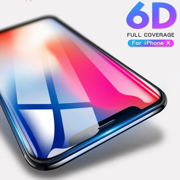 9H Full Cover Tempered Glass For iPhone X 10 6 7 8 Plus Screen Protector For iPhone X 8 10 6s 7 Plus Glass cover Protective film