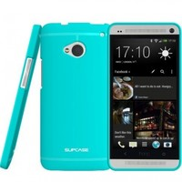 SUPCASE Premium Ultra Slim Fit TPU Case for HTC One M7 Smartphone (Blue, Free Screen Protector Included)