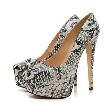 Addison Snakeskin Pumps