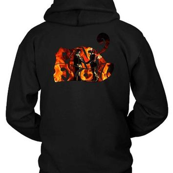 DCCKG72 Pink Floyd Wish You Were Here Title Burn Hoodie Two Sided