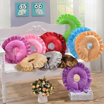 Beauty Salon Lying on Pillow Cushion Chair Pad Office Afternoon Nap Sleep Solid Color Flower Shape Cushion Massager Pillow Care