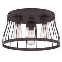 Designers Fountain 86821-BZ Brooklyn Bronze Three-Light Flush Mount