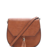 Faux Leather Saddle Crossbody