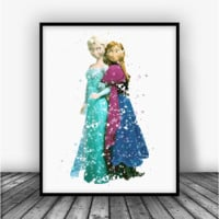 Frozen Elsa and Anna Art Print Poster