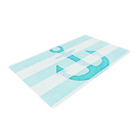 "Monika Strigel ""Stone Vintage Aqua Anchor"" Woven Area Rug, 4' x 6'  - Outlet Item"