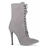 grey suede pointed heel boot - Google Search