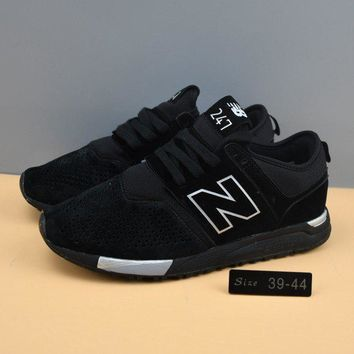 cxon new balance nb247 mid high all black for women men running sport casual shoes sneakers