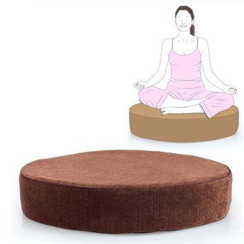Extra-Large 60cm Meditation Pillow Cushion Zafu Yoga Bolster for Zen,  Yoga practice or Buddha Meditation Floor Seat Furniture
