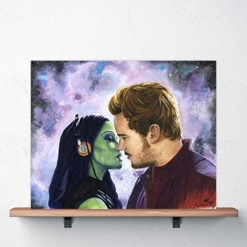 Star Lord & Gamora Print | Guardians of the Galaxy