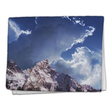 "Mountain All Over Print 11""x18"" Dish Fingertip Towel All Over Print by TooLoud"