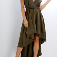 Rose Wrap Dress - Olive
