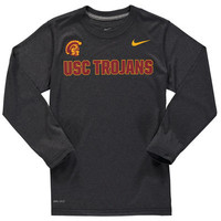 USC Trojans Nike Youth Legend 3 Long Sleeve T-Shirt - Anthracite