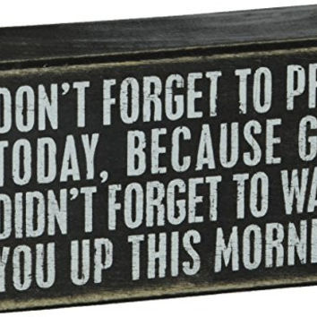 Primitives by Kathy Box Sign, 5-Inch by 3-Inch, Don't Forget