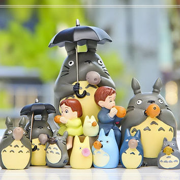 My Neighbor Totoro Mini Figure Desk Decoration Fairy Garden Accessories Miniature Fairies Terrarium Figurines Succulent Suppliers
