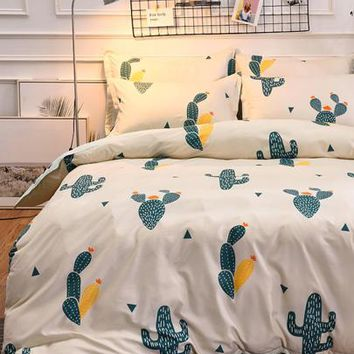 Cactus Print Sheet Set -SheIn(Sheinside)