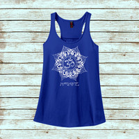 Namaste Flower - Yoga Tank Top - Namaste - Yoga Apparel (More Colors)