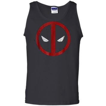 Marvel Deadpool Mask Classic Distressed Graphic  Tank Top
