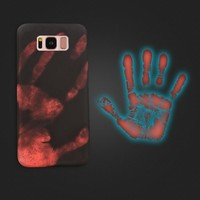Thermal Sensor Case for Samsung Galaxy S8 S8 Plus Cover Funny Thermal Heat Induction Hard PC Fundas Protective Phone Cases Shell