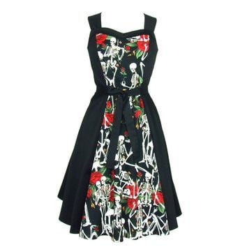Skeletons and Roses Full Circle Dress