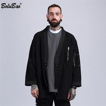 New Fashion High Street Taoist Military style Jacket Hip Hop Suit Men Casual Jacket Coat