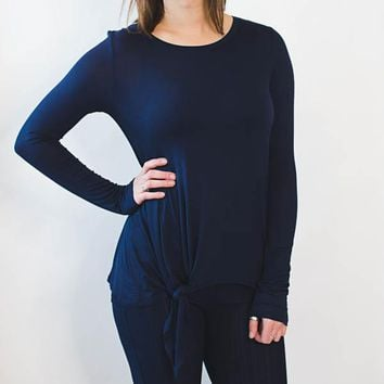 Knot Bottom Top - Navy