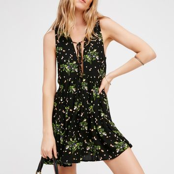 Free People Lovely Day Printed Tie Tunic