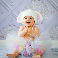 Easter Bunny Tutu - Pastel Spring Photography Prop Outfit for Toddler Preschool Girl