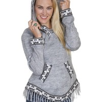 Scully Honey Creek European Alpaca Hooded Pullover Sweater