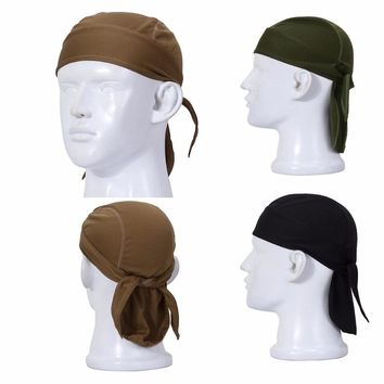 Outdoor Quick Dry Sweat Beanie Cap Cycling Pirate Hat Sports Headwear Helmet Liner
