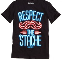 Respect The Stache Tee | Boys Humor Graphic Tees | Shop Brothers